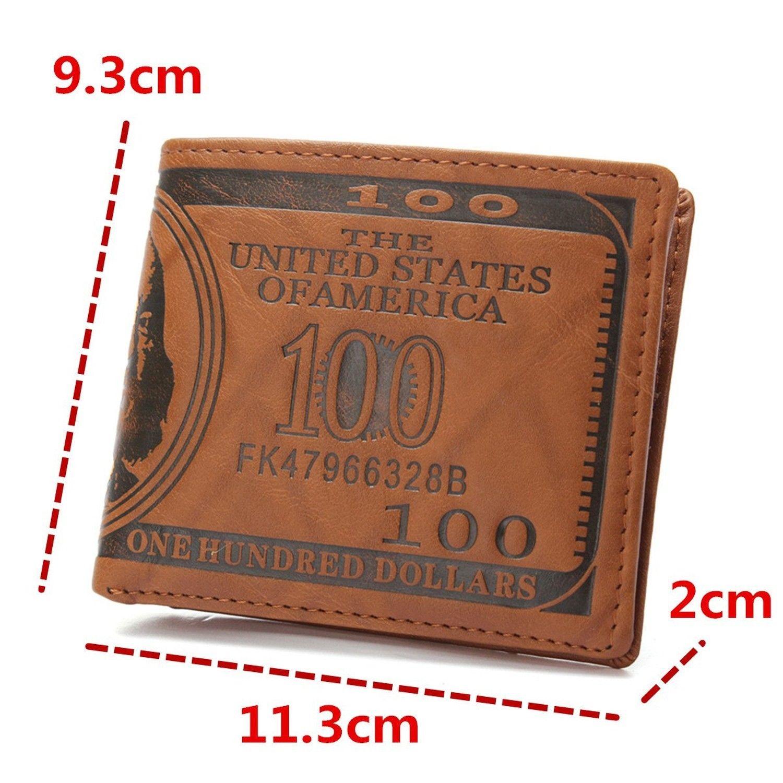 713a22e80 Billetera Cartera De Cuero Pu Para Hombre De Dólar Grabado - Importaciones  West